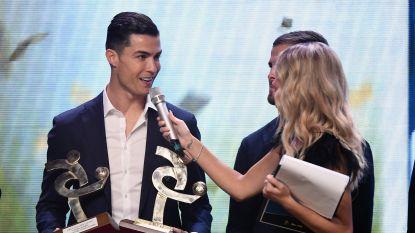 Ronaldo stuurde gisteravond zijn kat naar Parijs... om in Milaan prijs van 'beste speler van Serie A' te krijgen
