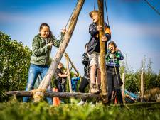 Leerlingen spelen 'Expeditie Robinson' op het Wellantcollege
