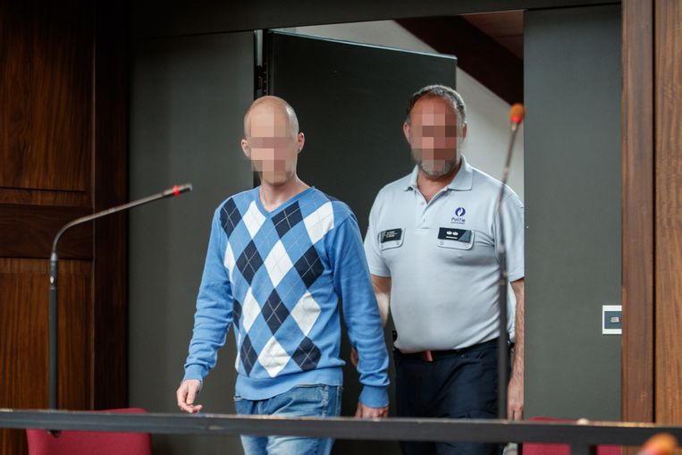 the accused Kenneth Samaille pictured during the jury composition of the assizes trial of Kenneth Samaille before the Assizes Court of West-Flanders in Brugge, Tuesday 30 April 2019. Samaille (31) has been accused of murdering his girlfriend's daughter, Elly Buysse, on 20 November 2017 in Menen. BELGA PHOTO KURT DESPLENTER