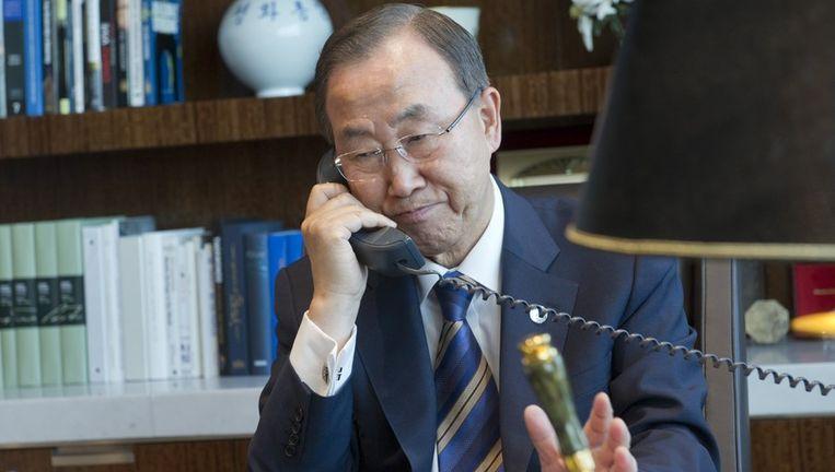 VN-secretaris-generaal Ban Ki-moon. Beeld afp