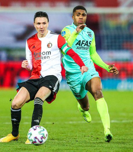 AZ neemt vierde plaats over van Feyenoord dankzij twee goals Boadu in boeiende topper