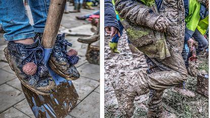 Wasmachines draaien overuren: zo leuk is een boomplantactie als het geregend heeft!