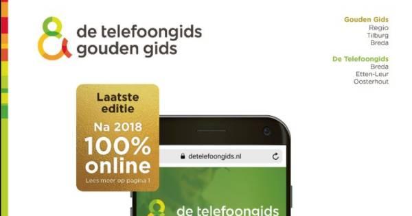 a27f8f1f0f2 Laatste telefoongids ploft op de mat in Tilburg   Tilburg e.o.   bd.nl