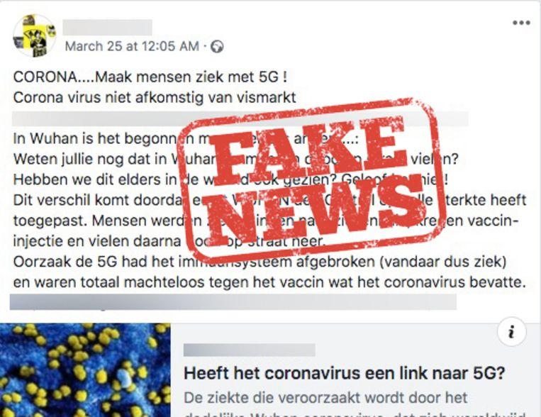 Ook in Vlaanderen wordt dit valse bericht verspreid.