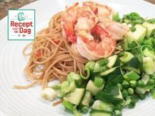 Recept van de dag: Pittige citroen-knoflookspaghetti met gamba's