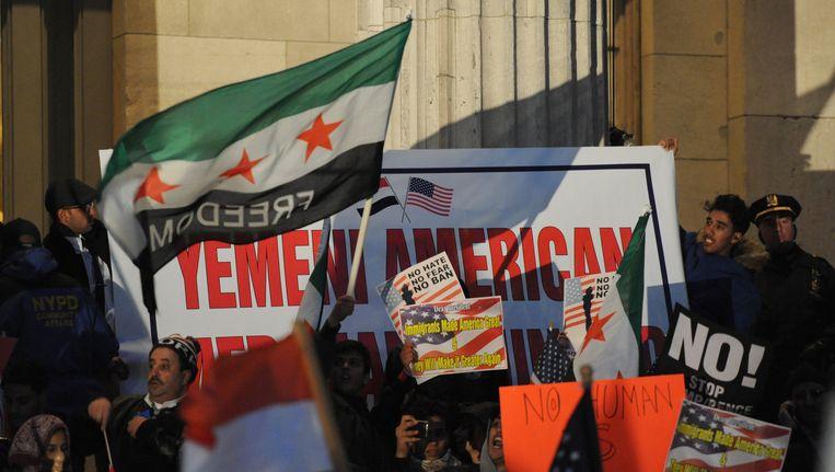 Gisteren demonstreerden New Yorkers met Jemenitische roots nog tegen het inreisverbod.
