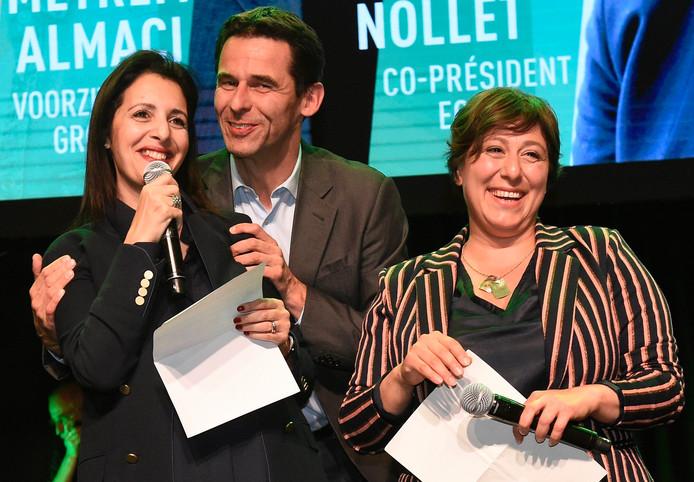 Zakia Khattabi (Ecolo), Meyrem Almaci (GROEN) et Jean-Marc Nollet (Ecolo).