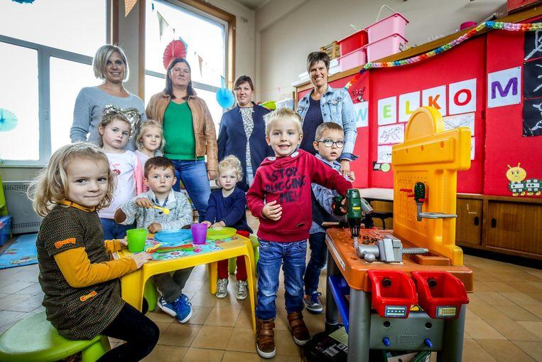 De kleuterschool beschikte begin dit schooljaar over zeven leerlingen, ondertussen zijn het er negen.
