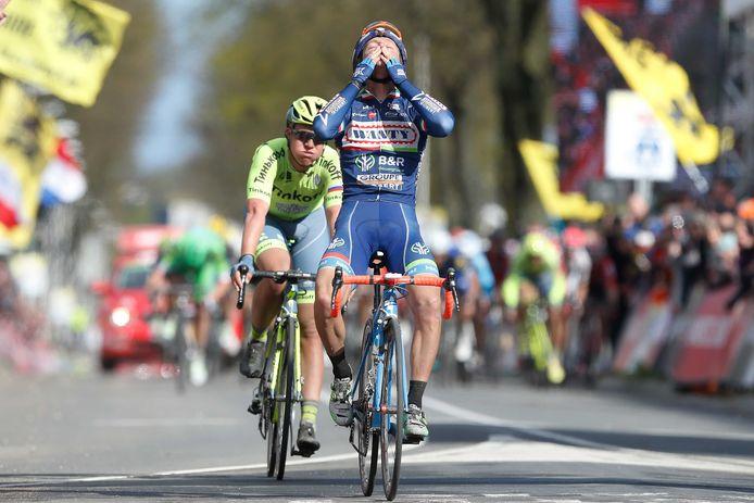 Gasparotto wint in 2016 opnieuw in de Amstel Gold Race.
