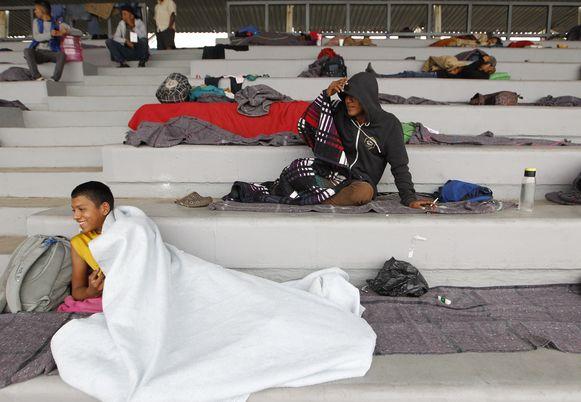 Mexico-Stad maakt zich klaar om duizenden migranten tijdelijk op te vangen.