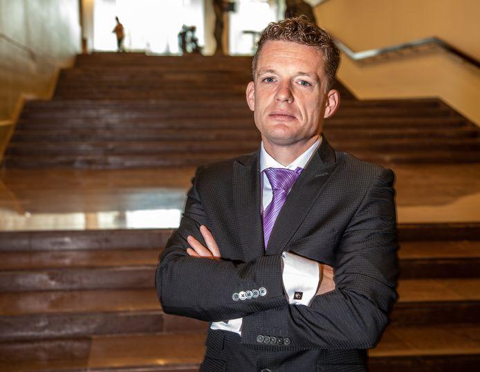 Johan Almekinders, fractieleider van Forum voor Democratie Overijssel.