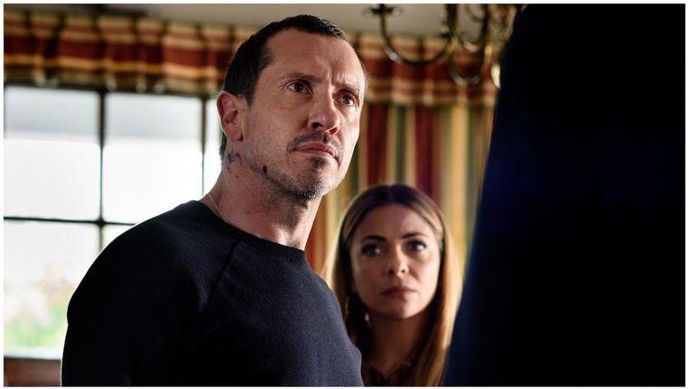 Crimineel van formaat Marius Milner (Jacob Derwig) en zijn vrouw Kitty (Georgina Verbaan) Beeld Pief Weyman