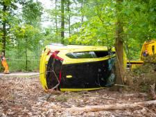 Vrouw ongedeerd na hachelijk ongeval in Heerde