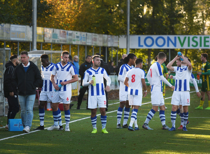FC Lienden-Jong ADO Den Haag werd twintig minuten voor tijd gestaakt.