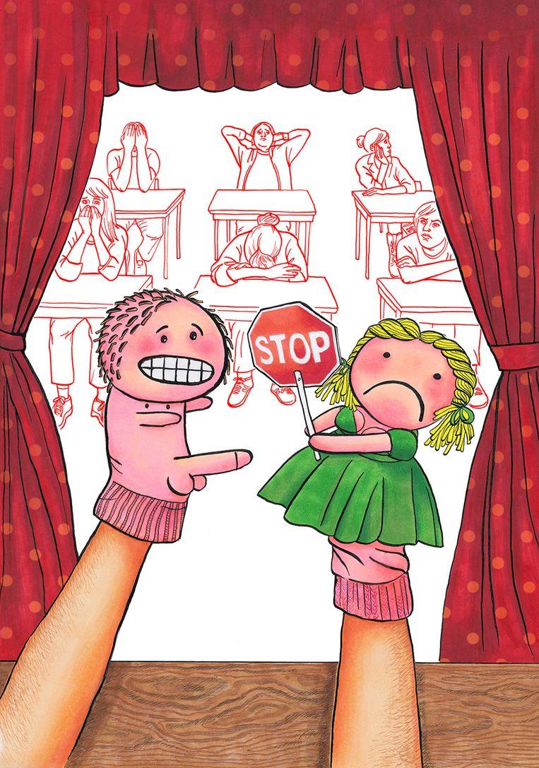 Met leerlingen over seksualiteit praten kan inderdaad lastig zijn voor docenten. Beeld Evalien Lang