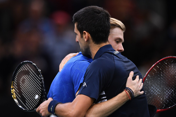 Novak Djokovic en Denis Shapovalov