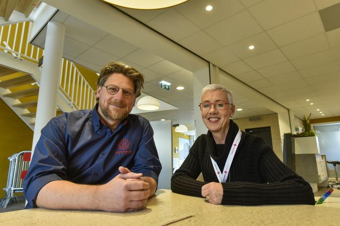 John Hurkmans en Lian van Iersel in het nieuwe gezondheidscentrum voor Drunen.