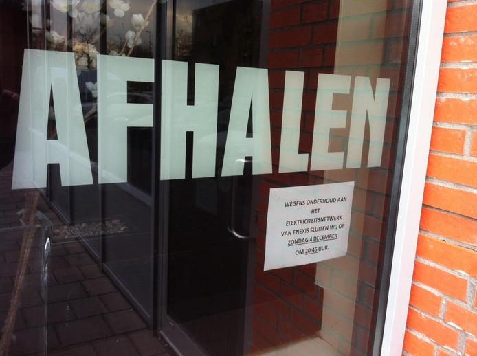 In winkelcentrum De Rompert kondigt het Chinees restaurant al aan dat de zaak op 4 december eerder sluit dan gewoonlijk.