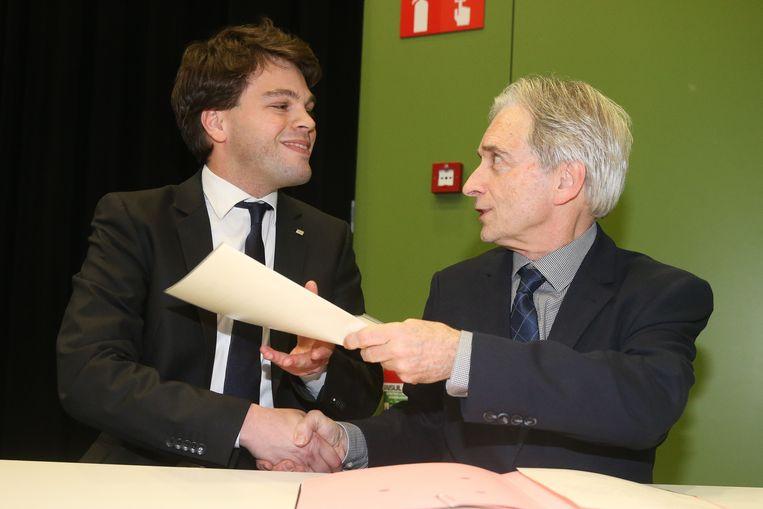 Eedaflegging burgemeester Kaprijke, Pieter Claeys.