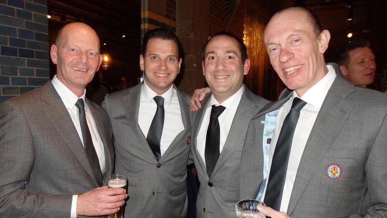 In Gouden Sleutelstenue: Rob Terwijn (Swissôtel), Onne Schepel (Okura), David Fransman (American Hotel) en Meindert Luchthart (Die Port van Cleve). Beeld Schuim
