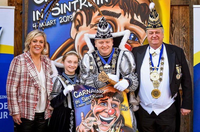 Schepen van carnaval Hilde Vautmans, Opper van de Commeduur Jo Sneyers, Stadsprins Dimitri  en Jeugdprinses Lina