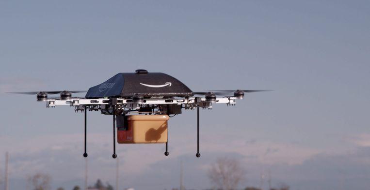 Amazon werkt verder aan de ideale bezorgdrone. Scroll naar beneden voor foto's van het nieuwste model.