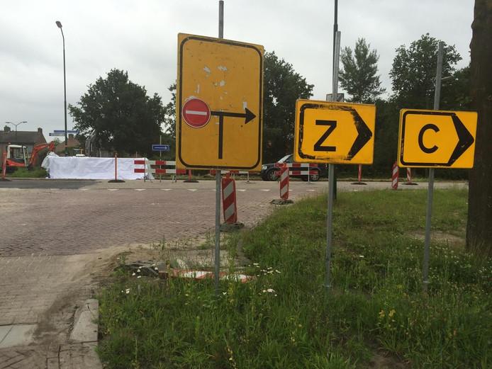 Werkzaamheden in de Europalaan in Nuenen