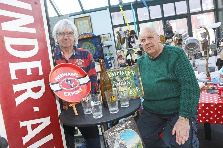 Pierre Vallaeys en Marcel Vits organiseren zondag de eerste beurs voor bierattributen.