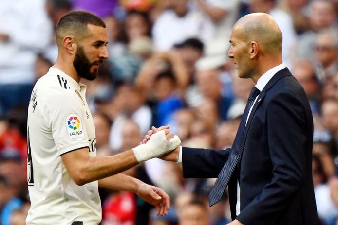 Karim Benzema et Zinedine Zidane.