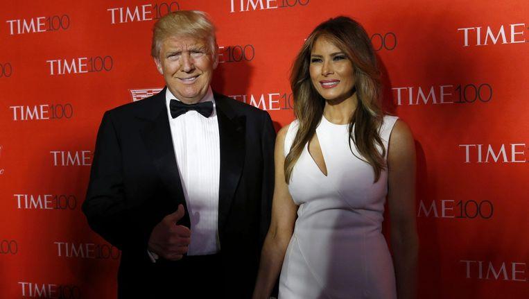 Trump en zijn vrouw Melania op een gala van weekblad Time. Beeld Reuters