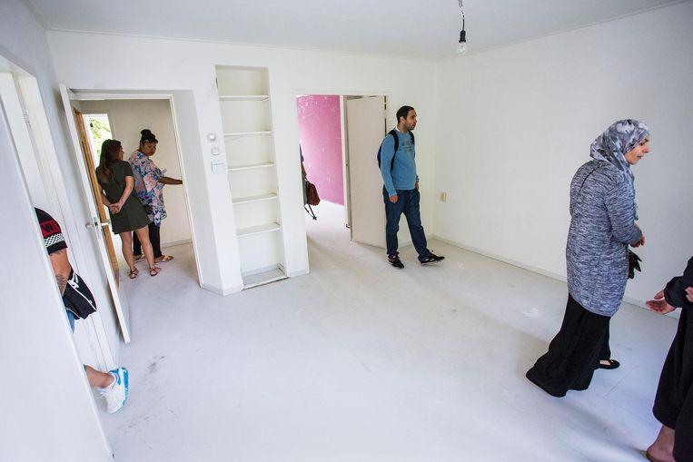 Een open huis van een sociale huurwoning in Amsterdam. Beeld null