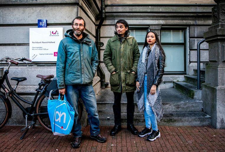 Rogier Meijerink, Michael van Zeijl en Christa Soeters van Majority Perspective. Beeld anp