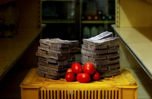 Un kilo de tomates = 5.000.000 bolivars = 0,64 euro (août 2018)