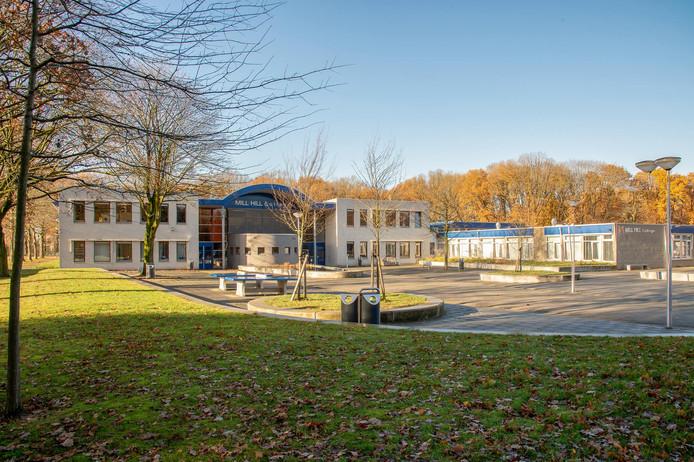 Het Mill Hill College in Goirle, dit jaar grote winnaar in de strijd om aanmeldingen van brugklassers.