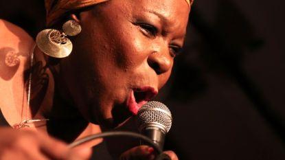 Gisele Jackson treedt op in Klinker Club