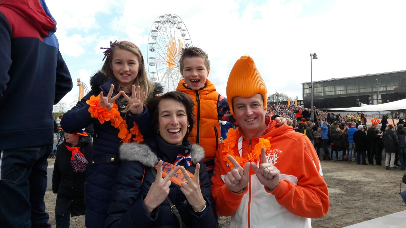 Olaf, Danielle en hun kinderen Julia en Quinten.