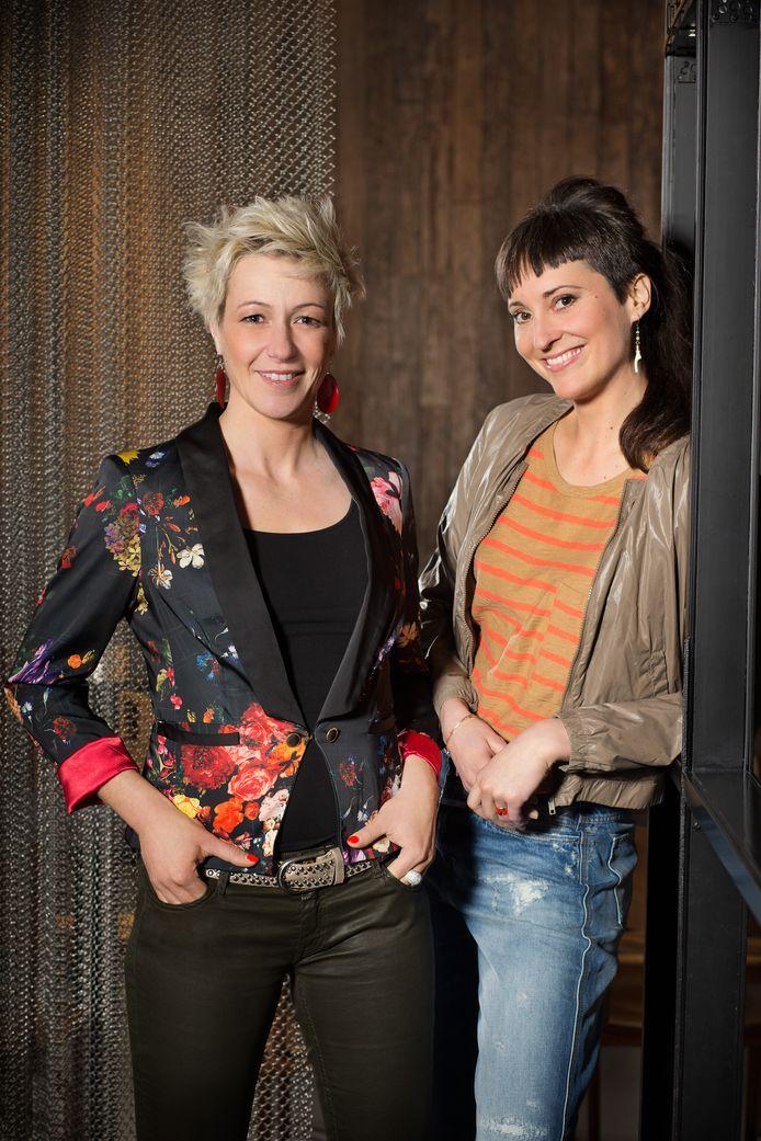 Gillian en collega Caroline namen samen deel aan 'Mijn Pop-uprestaurant'.