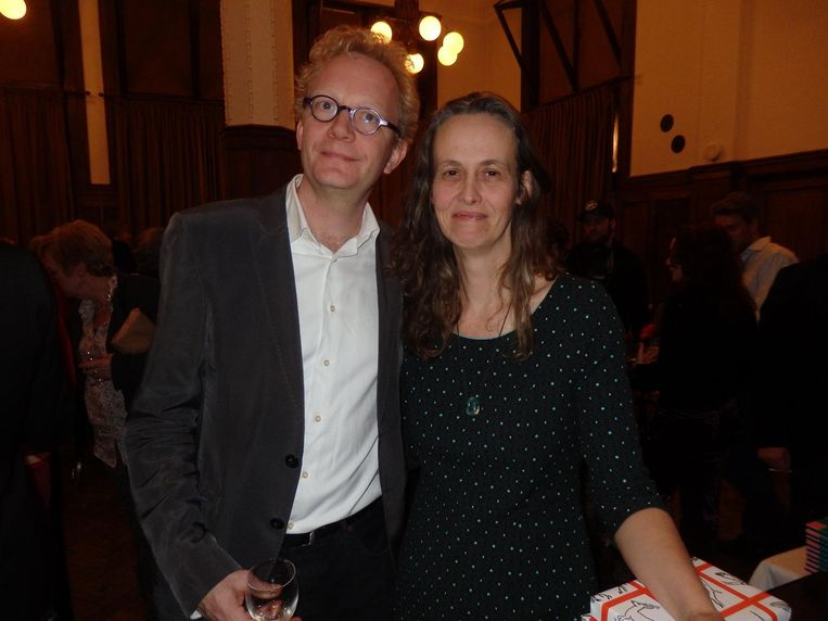 Arjen Fortuin en Edith Vroon, van de J.M.A Biesheuvelprijsorganisatie Beeld Schuim