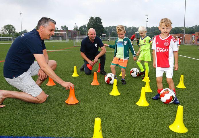 Voetbalkamp bij Sportlust'46 in Woerden.