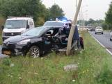 Automobilist botst tegen vrachtwagen en raakt gewond in Oosterhout