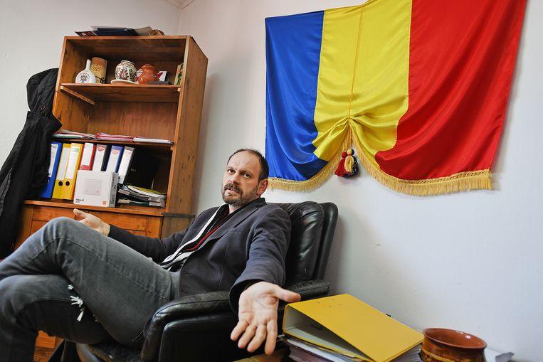 László Szöcs, de burgemeester van Etéd.  Foto Guus Dubbelman / de Volkskrant Beeld null