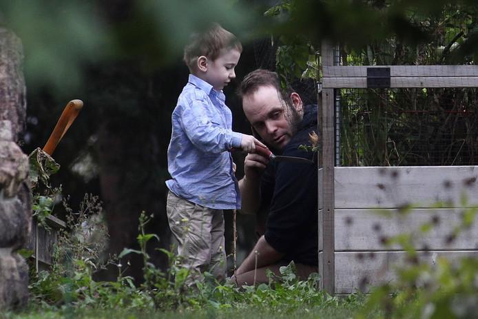 Boyle met zoontje Jonah.