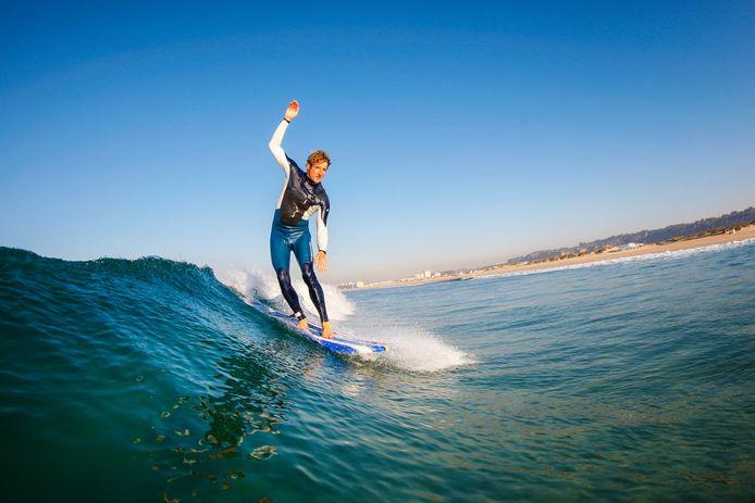 Sander Dikken, een van de vijf surfers die maandag 11 mei om het leven kwam in Scheveningen.