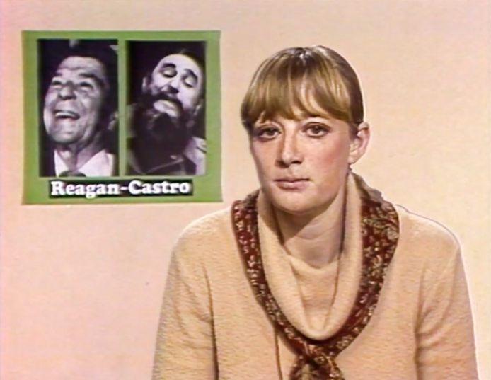 Martine Tanghe tijdens de beginjaren van haar carrière.