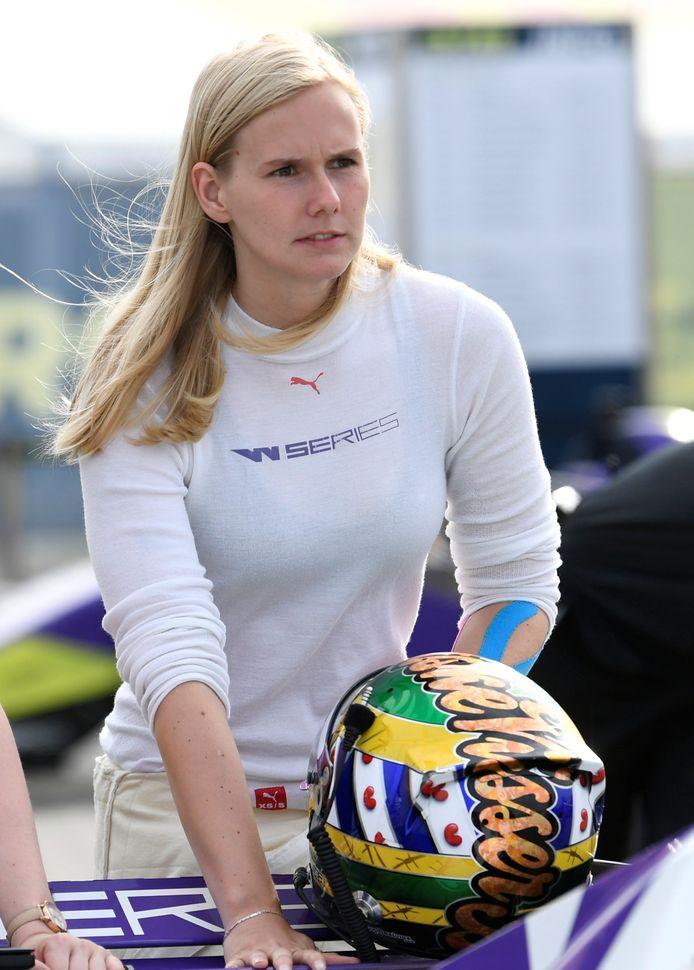 Beitske Visser op het circuit van Assen, waar de laatste race van afgelopen seizoen werd verreden.