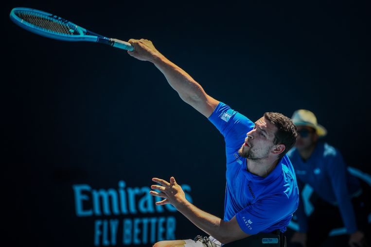 Joachim Gerard won de Australian Open in het dubbelspel.