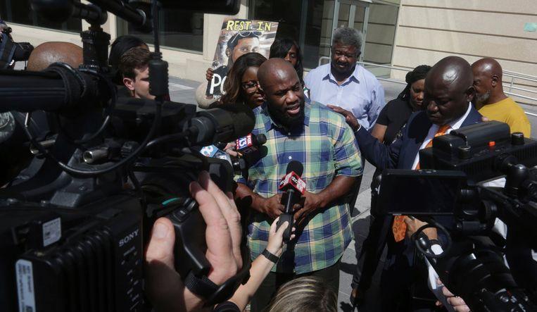 Michael McGlockton, vader van Markeis, bij de rechtbank gisteren.