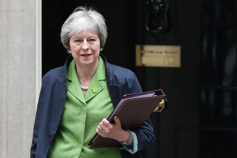 De Britse premier Theresa May. Beeld AFP