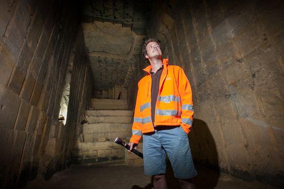 De mergelgroeve Avergat in Kanne met Mike Lahaye, grottendeskundige van de gemeente Riemst