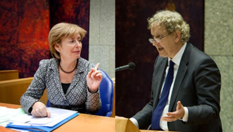 Guusje ter Horst (L) en Eberhard van der Laan (R). Foto's ANP Beeld